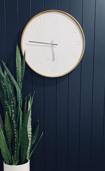 One Six Eight London Freya Wall Clock, White, 50cm