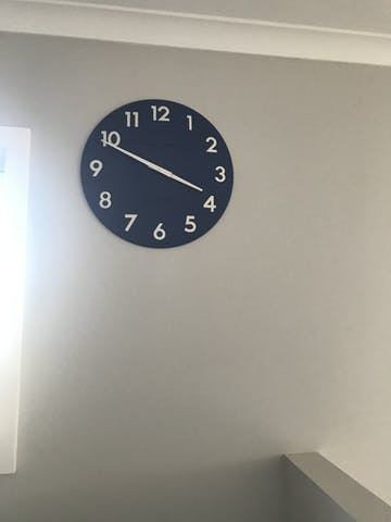 Thomas Kent Camden Wall Clock, Indigo, 51cm