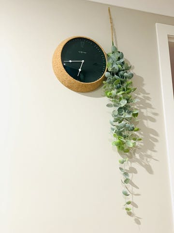 NeXtime Cork Wall Clock, Green, 30cm