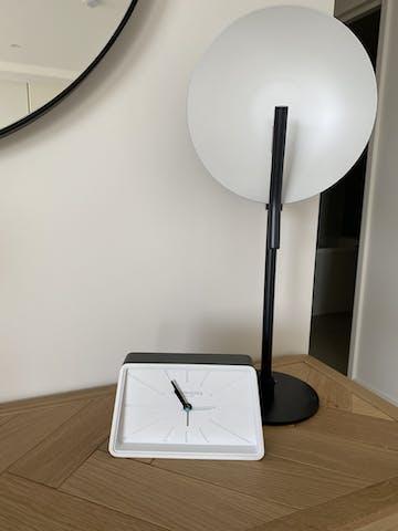 London Clock Company Topic Alarm Clock, Cool Grey, 17cm