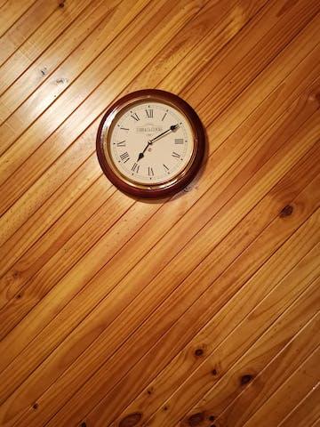 COBB & Co Medium Railway Wall Clock, Walnut, Roman, 32cm