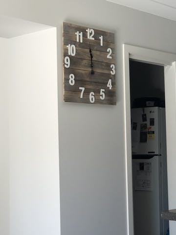 Pasquale Shabby Square Timber Panel Wall Clock, 60cm
