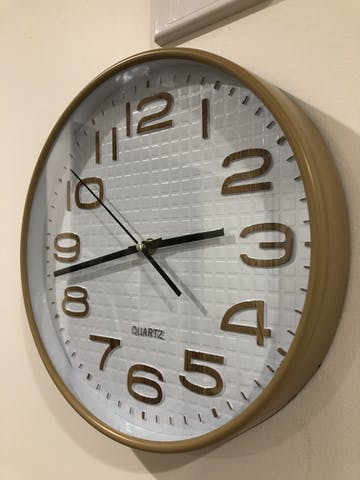 Julian Waffle Pattern Wall Clock, Brown, 30cm