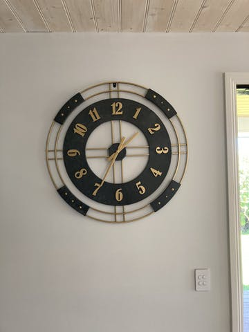 Athos Bold Metal Wall Clock, 80cm