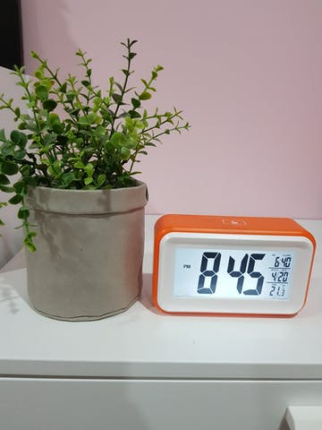 Checkmate Cranston Multifunction Digital Alarm Clock, Orange, 15cm