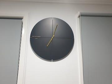 One Six Eight London Liam Minimal Wall Clock, Charcoal Grey, 60cm