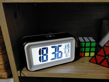 Checkmate Cranston Multifunction Digital Alarm Clock, Black, 15cm