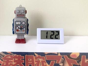 Checkmate Barker Mini Travel Digital Desk Clock, White, 6cm