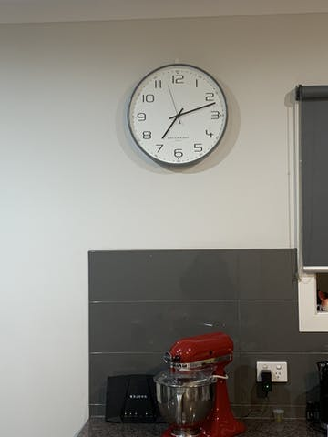 One Six Eight London Carmen Wall Clock, Cool Grey, 40cm