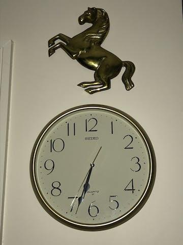 Seiko Myra Gold Wall Clock, 28cm