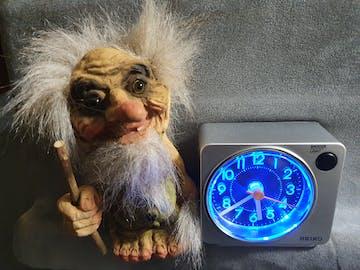 Seiko Payne Silver Square Alarm Clock, 8cm