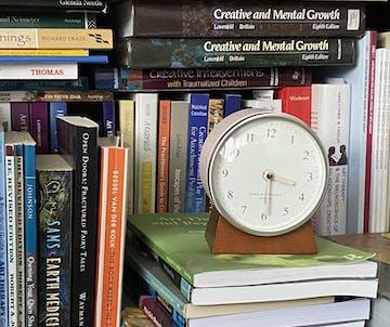 One Six Eight London Nina Alarm Clock, Blush, 12cm