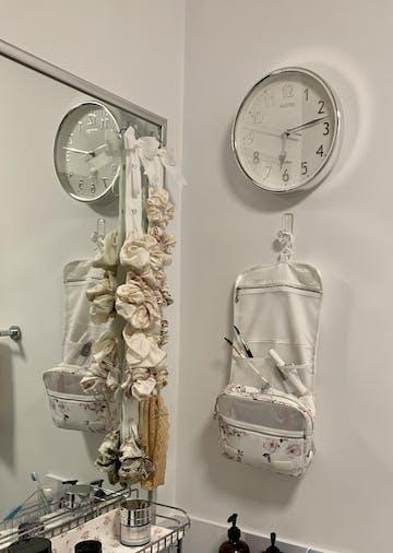 Baxter Brice Wall Clock, Silver, 25cm