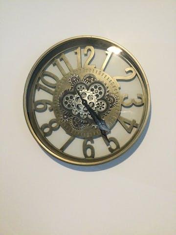 Dionysus Metal Moving Gears Wall Clock, 59cm