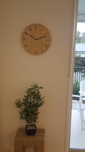 One Six Eight London Ester Open Light Wooden Wall Clock, 41cm
