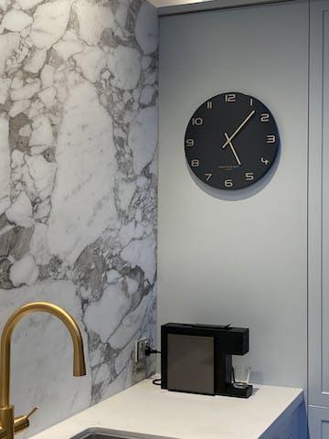 One Six Eight London Blake Wall Clock, Charcoal Grey, 40cm
