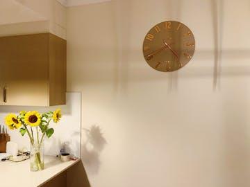 Thomas Kent Mulberry Wall Clock, Rose Gold, 50cm
