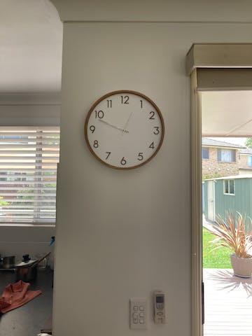 One Six Eight London Scarlett Wall Clock, White, 35cm