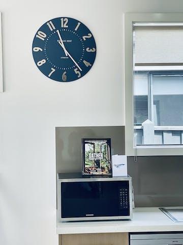 Thomas Kent Mulberry Wall Clock, Midnight Blue, 50cm