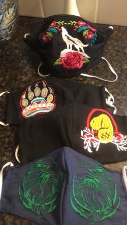 custom Made Embroidered Face Masks #00050
