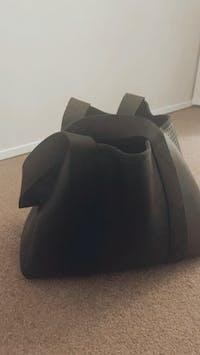 Frankie (Metallic Black) Work/Nappy/Uni Neoprene Tote Bag