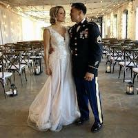 Floral lace wedding dress Enn