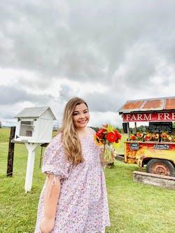 PLUS SIZE - Debra Floral Dress