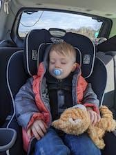 Car Seat Safety Road Coat®Down Jacket - Platinum / Orange