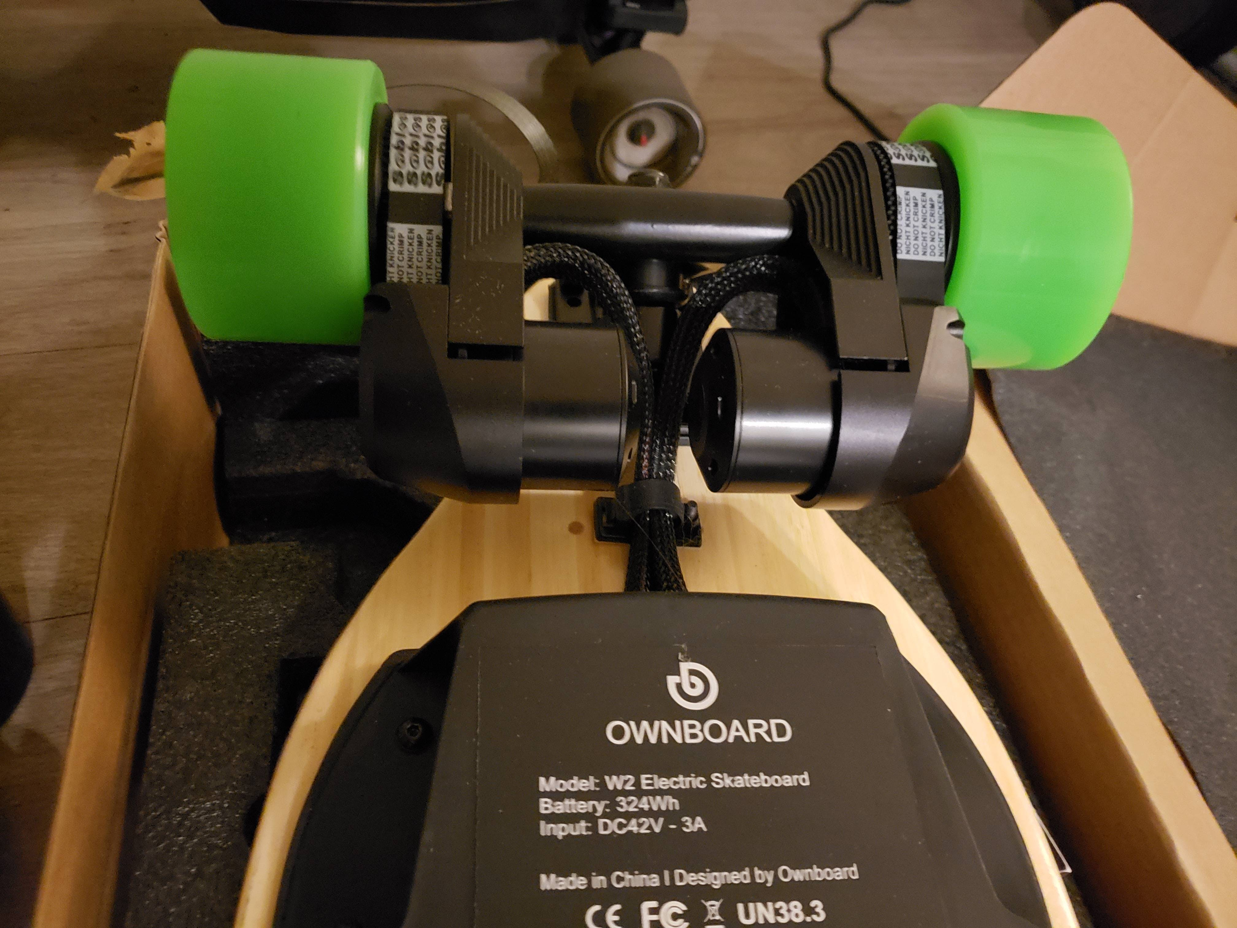 Ownboard W2 38 Electric Skateboard With Dual Belt