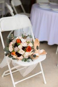 Ivory, Orange, Dark Brown Bouquet
