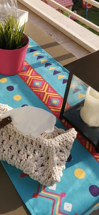 Eclectic Memphis: Playful African-inspired and refined boho bedding, runner, placemtas and cushions