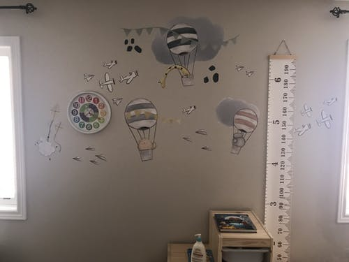 Hot Air Balloons & Airplane Decals