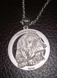 Custom Photo Engraved Necklace