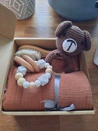 Coffret cadeau de naissance bébé Ours