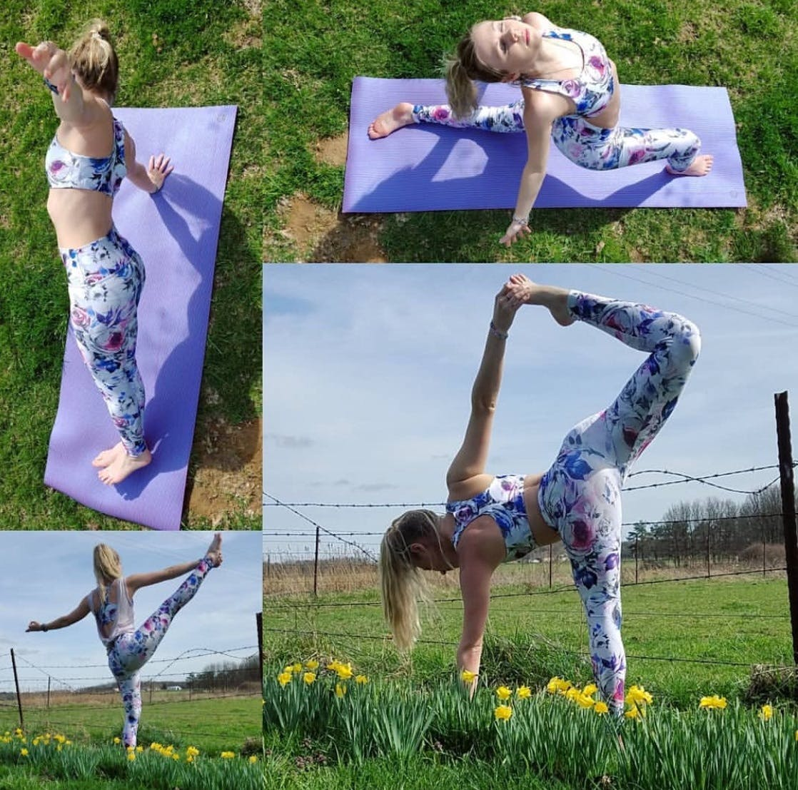 Love Fitness Pineapple Leggings: Floral Touch Lucy Printed Performance Leggings