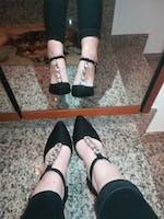 ABBY - heeled sandal with diamonds