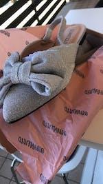 NEELA - Ballerina in grey glitter