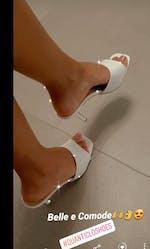 EVELINA - sandalo con tacco bianco