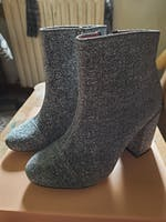 IRENE - stivaletto in glitter grigio
