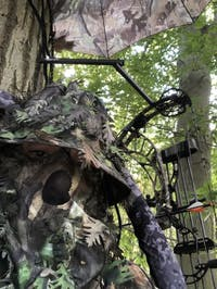 NWTF Mossy Oak Obsession 3D Leafy Camo Bucket Hat with Face Concealment