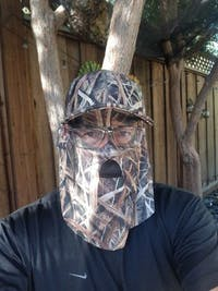 Mossy Oak Shadow Grass Blades   Camo Hat and Front Face Concealment (One Size Fits Most)