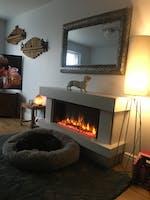 Celsi Ultiflame VR Orbital Illumia Electric Fireplace Suite