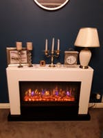 Suncrest Raby 47 inch Electric Fireplace Suite