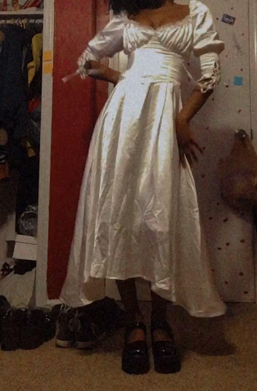 Vintage Style Drama Inspired Wedding Dress Bridal Wear