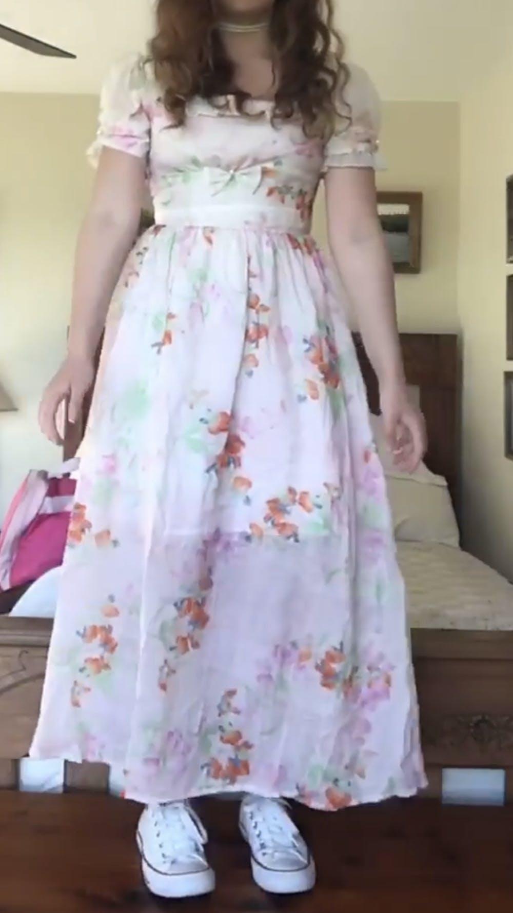 [Premium] Handmade cottagecore floral print dress