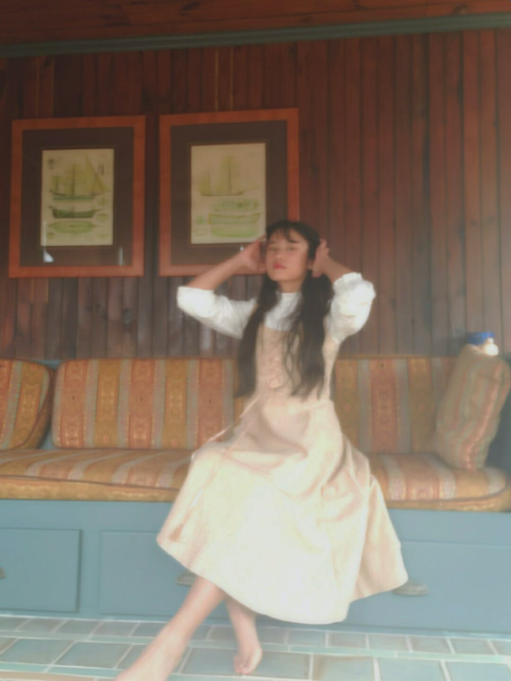 Retro Cottagecore Lace Top & Strap Dress Set