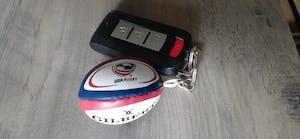 Gilbert USA Rugby Ball Keyring