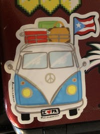 La VW Boricua (Premium Sticker)