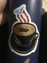 Taza de Mi Café (Premium Sticker)