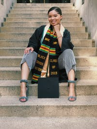 Black Grads Matter Class of 2020 Kente Cloth Graduation Stole